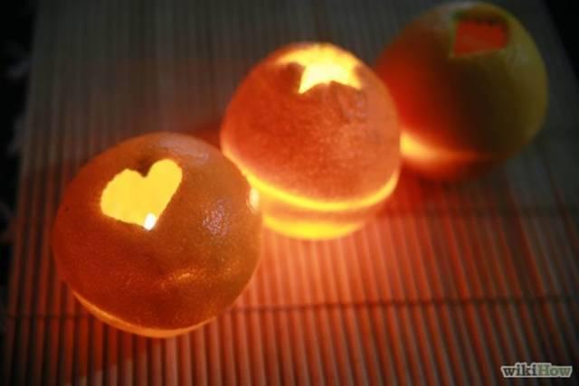 オレンジでキャンドルライトをDIY