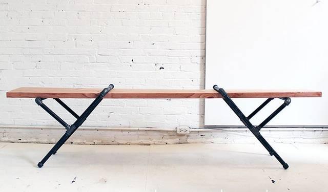 パイプを組み合わせてベンチの脚にするdiy! Diyer S