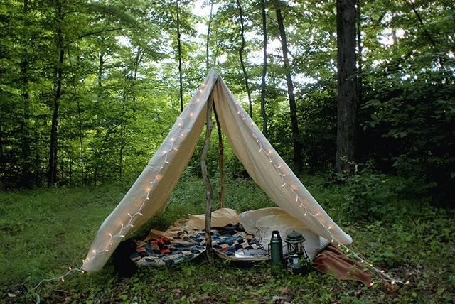 キャンバス生地でテントをDIY!
