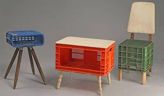 プラスチックケースを家具に生まれ変わらせるDIY!