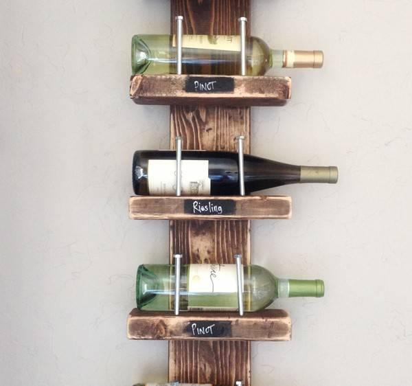 板材を使ってシンプルなワインラックをDIY!