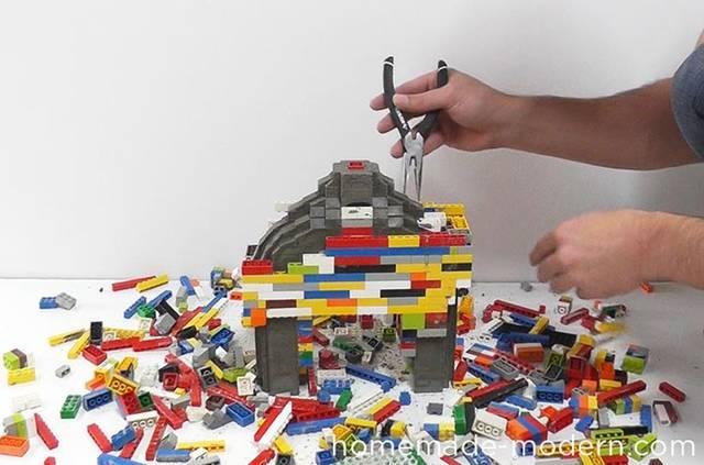 レゴで型取りするセメントコーヒードリッパースタンド