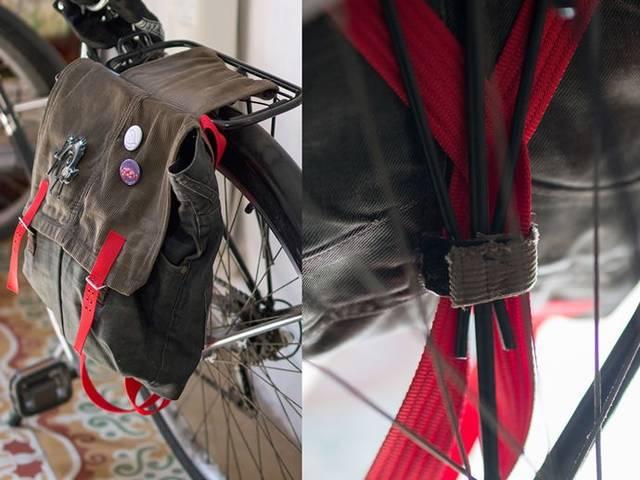 古着を使ってアップサイクル。自転車用サイドバッグをDIY!