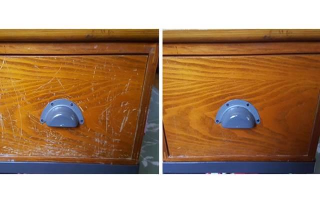 オリーブオイルとお酢を使って木製家具の傷を目立たなくさせるDIY術!