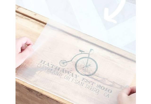 クリアポケットで簡単にワイン箱にイラストを転写するDIY術!