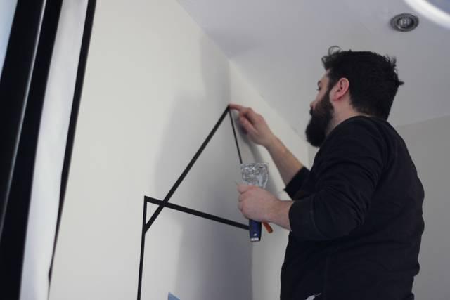 マスキングテープで自宅の壁をアートにDIY!