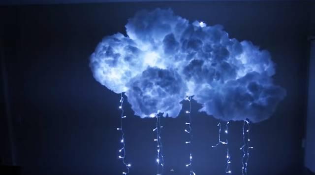 空中にふわふわ浮かぶ雲ライトをDIY!