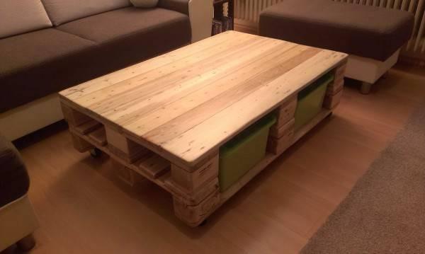エジソン的発想!? パレットボード2つで収納付きコーヒーテーブルをDIY!
