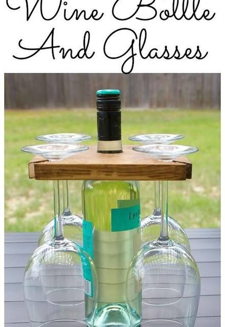 週末パーティーおうち飲み!ボトルとグラスのウッドキャリーをDIY!