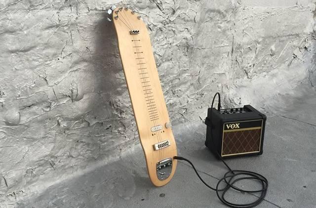 スケートボードのデッキがギターに生まれ変わる