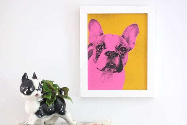 まるでウォーホル風!? DIYで愛犬のポートレートをポップアートにアレンジしよう♪