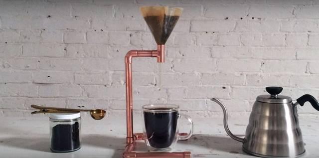 金属パイプで作る簡単男前コーヒーメーカー