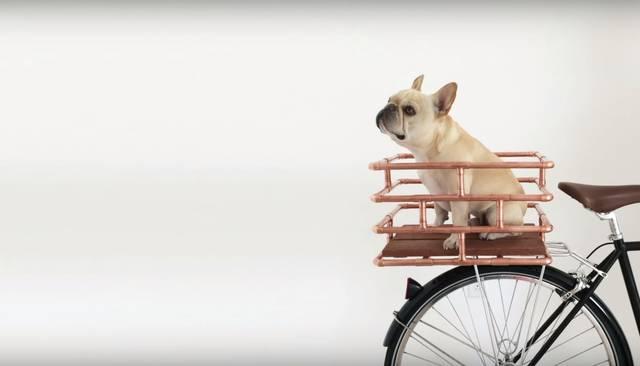銅製パイプを使ってバイクバスケットをDIY!