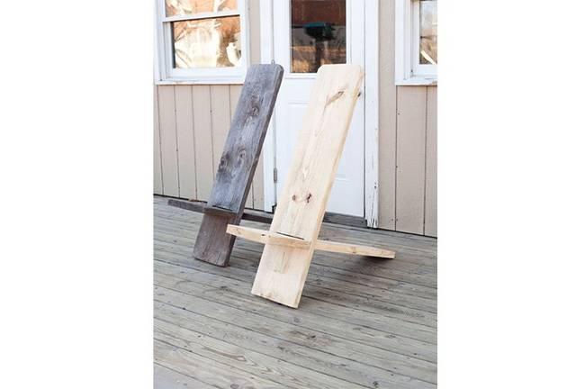 1つの木材だけで、小さくまとまるミニマルチェアをDIY!