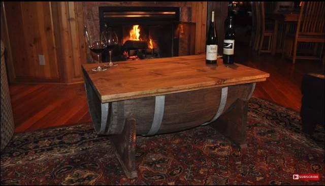 ウィスキー樽をオシャレなコーヒーテーブルにリメイク!