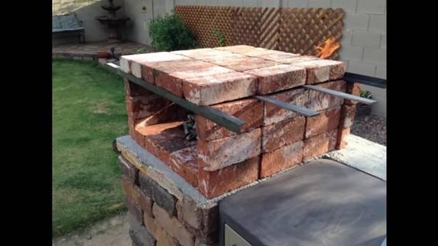 レンガでピザ窯をDIY!使う時だけ組み立てられる!