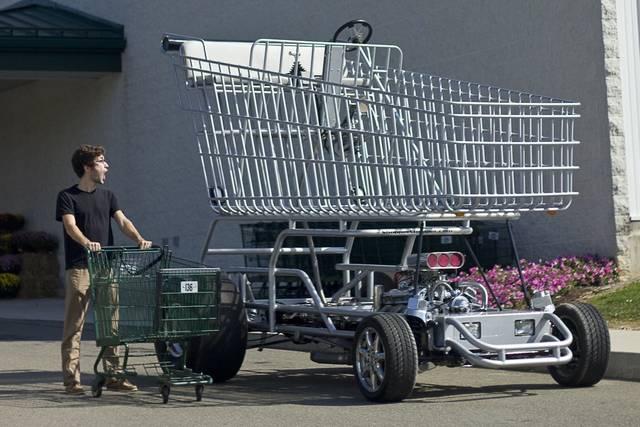 エンジンで動く!?でっかいショッピングカートをDIY!