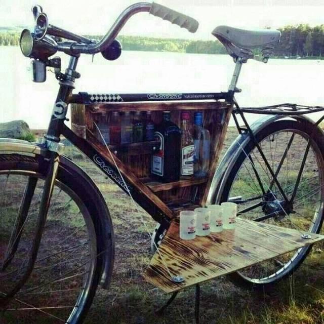 自転車のフレームを有効活用して休日を楽しむDIY術!