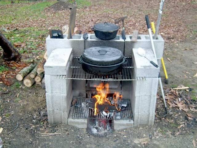 ブロックで作る簡単野外炉DIY術!