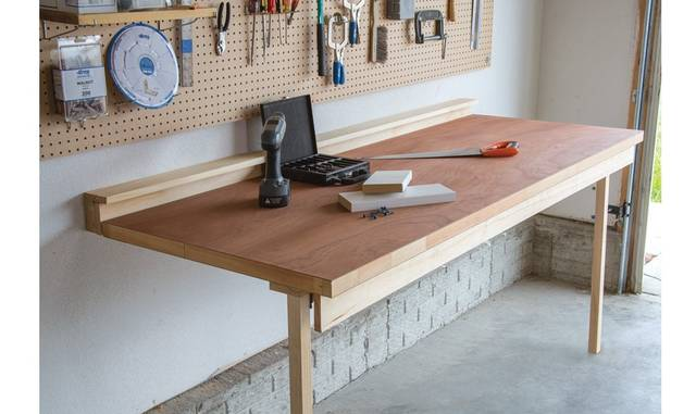 簡単!?狭いスペースには折り畳み作業台が最適!