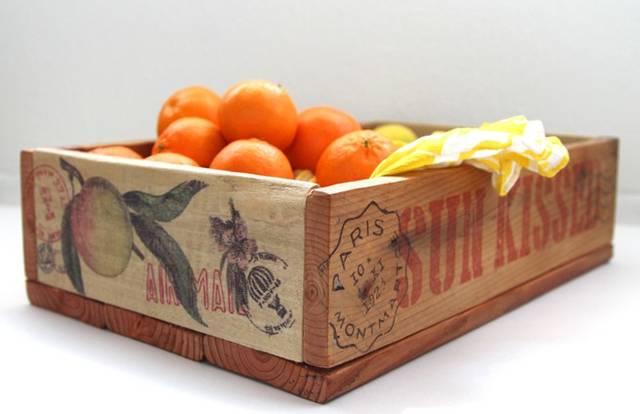木箱をDIY!写真やイラストを転写