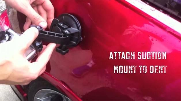サクションカップを使って車の凹みを元に戻すDIY術!