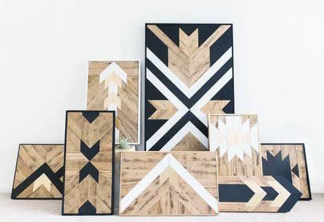 余った木材でネイティブなウォールアートをDIY!