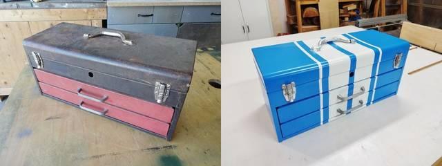 錆びた使い古しのツールボックスをアップグレード!