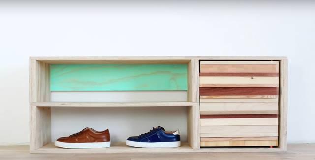 靴箱をDIY!ベニヤ板、廃材活用