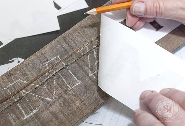 木に文字を書く方法!転写シート不要
