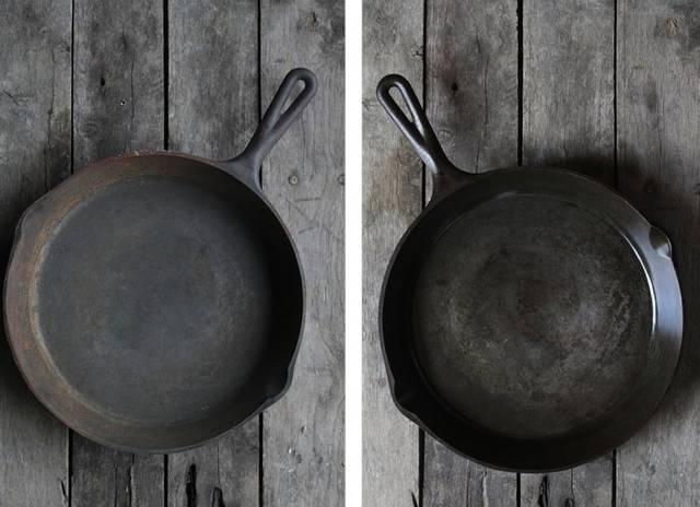 キッチンにあるもので錆びた鉄鍋が蘇る!