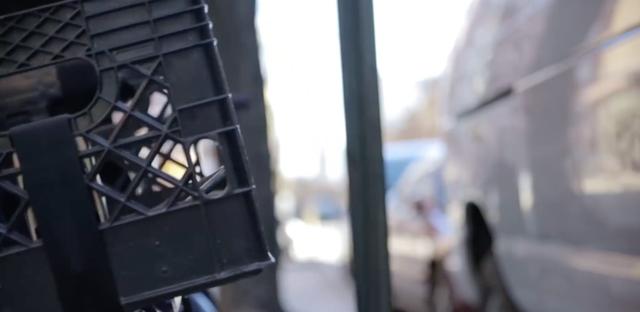 プラスッチックケースで作る自転車カゴ