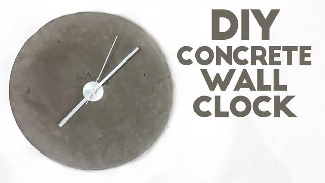 コンクリート製壁掛け時計をDIY!