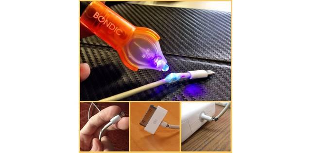 幅広い用途に使えそう♪超強力!?UV LEDライトで固まる接着剤