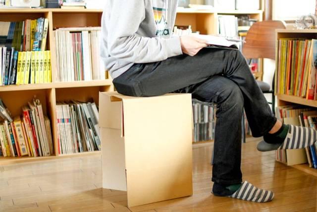 ダンボール椅子の作り方!簡単で実用的!