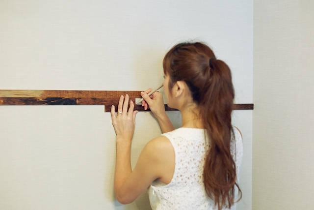 原田沙奈子さんが自宅の壁をDIY