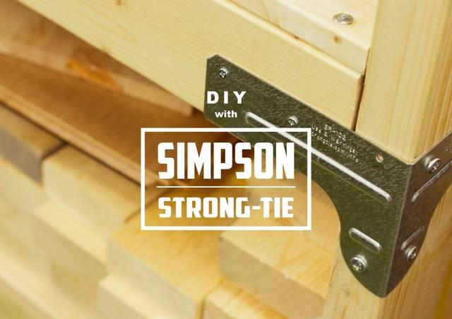 2×4材用コネクター「シンプソン金具」で事務所の棚を作ってみた