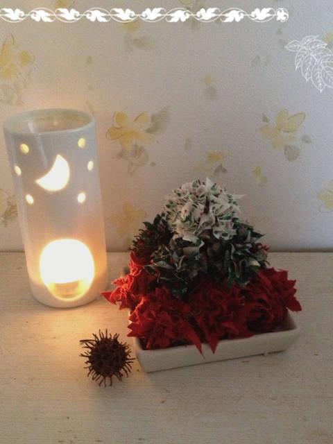 ちょっと早い、手作りクリスマス飾り