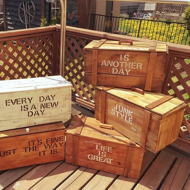 りんご箱のリメイク✳︎トランク型BOX