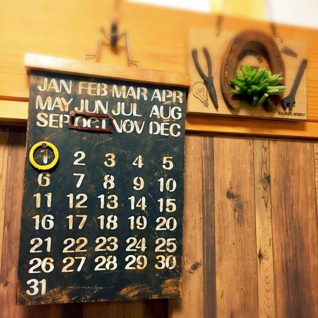 端材でカレンダー