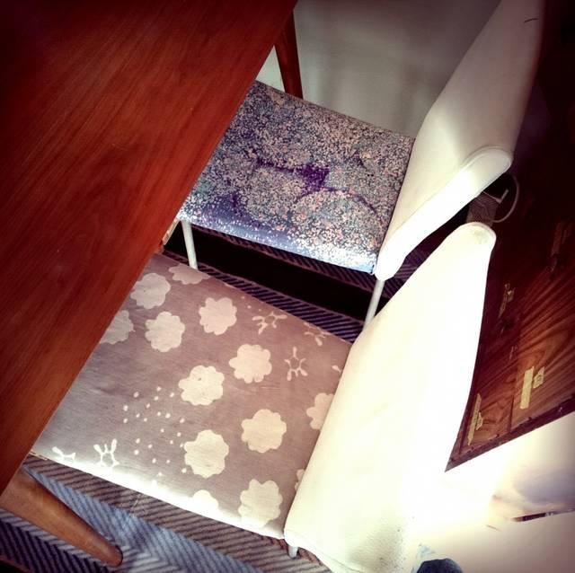 椅子の座面張り替え 布×DIY