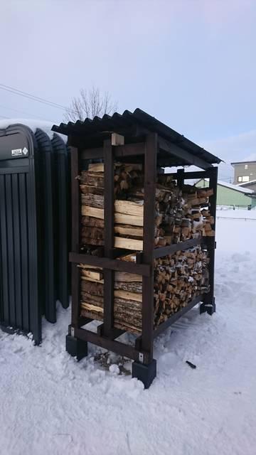 ワンシーズン用薪棚