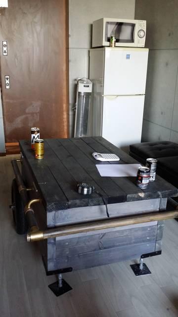 ミニリヤカー風テーブル