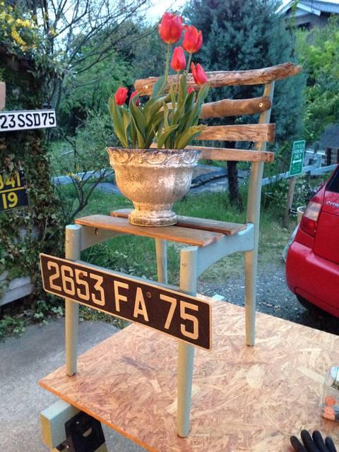 椅子から花台へのカスタム