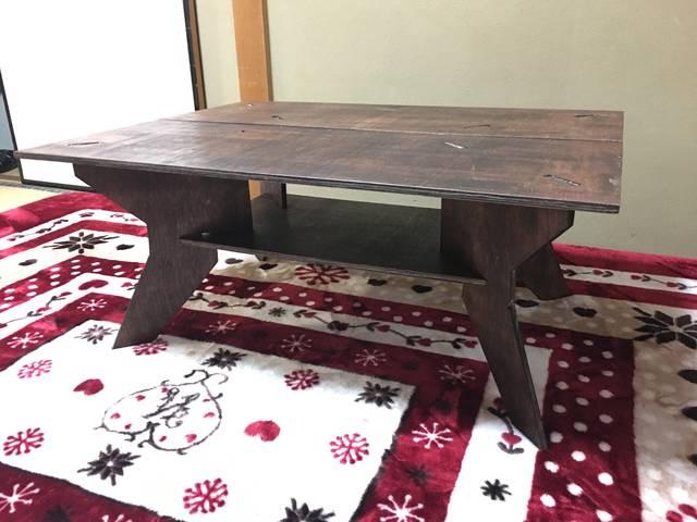 キャンプ用組み立てベニヤテーブル