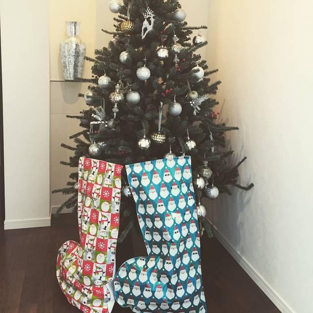お菓子のクリスマスブーツ
