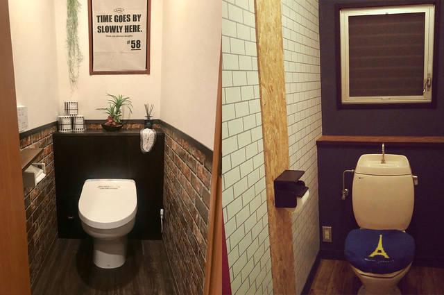 トイレの壁紙をDIY!秀逸な好サンプル集!!