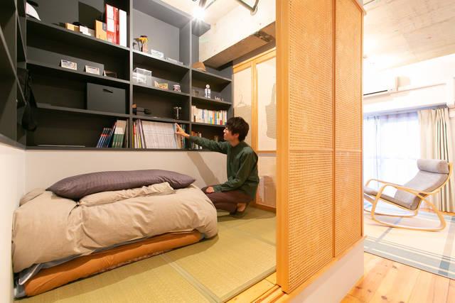 ワンルームに和室、作っちゃいました。リノベだからできた安らぎ空間。