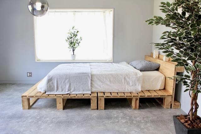 パレットが無いなら作ればいい!SPF材と角材でパレットベッドをDIY
