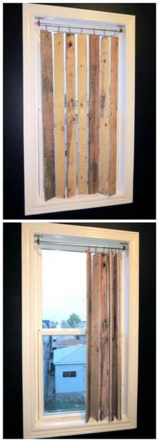 Pallet Wood Window Valance